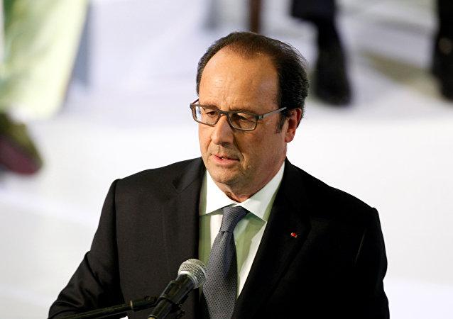 François Hollande, presidente de Francia