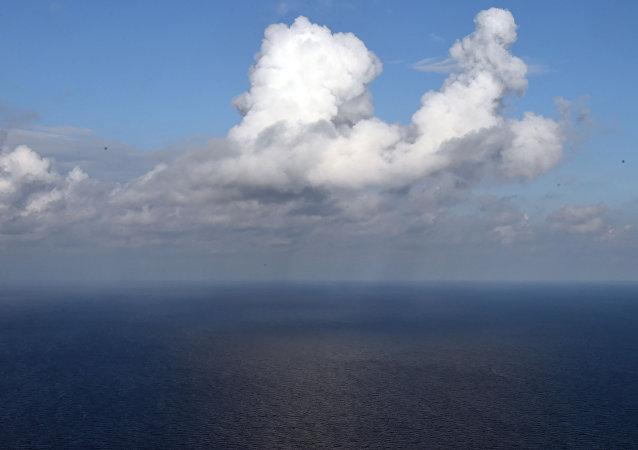 Vista aérea del mar Mediterráneo