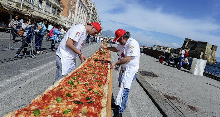 La pizza más larga del mundo