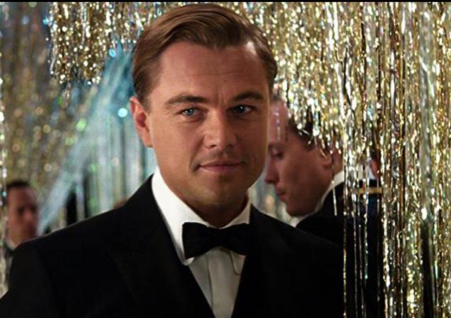 Leonardo DiCaprio en la película El gran Gatsby