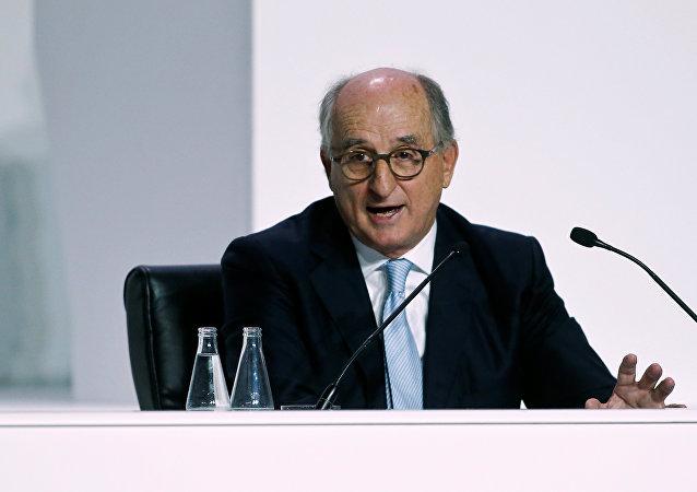 El presidente de la empresa petrolera español Repsol Antonio Brufau