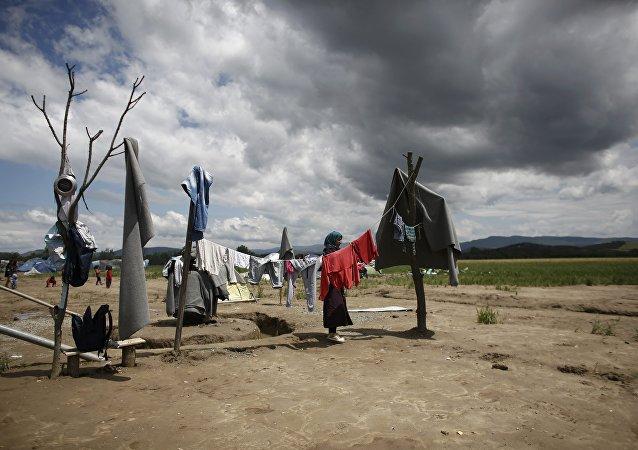 Campo de refugiados cerca de la ciudad de Idomeni, en la frontera con Macedonia