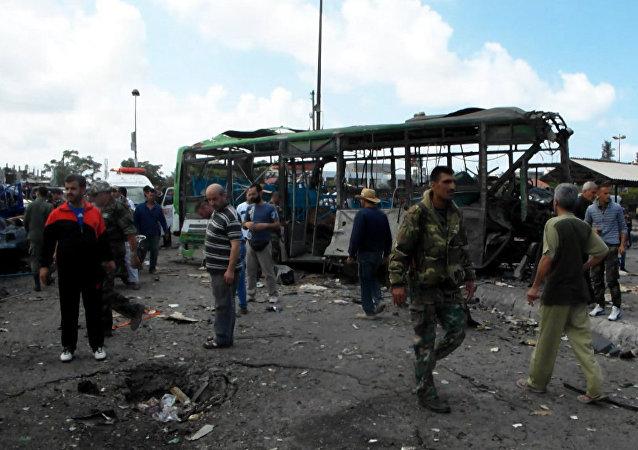 Explosiones cerca de la terminal de autobuses  en Jableh