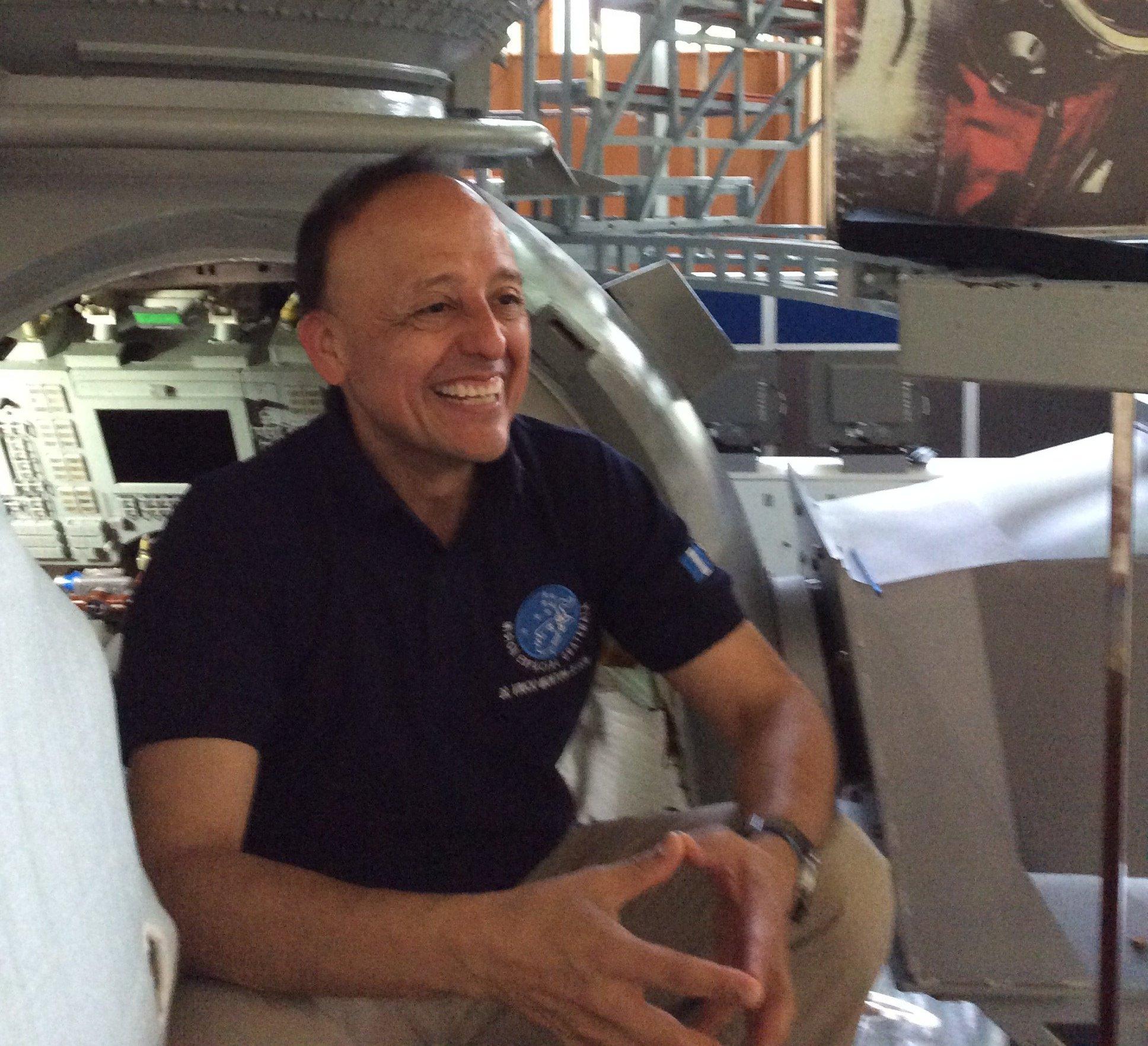 Montoya en el Centro de Formación de Cosmonautas Gagarin