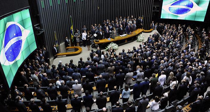 Una sesión del Congreso de Brasil (imagen referencial)