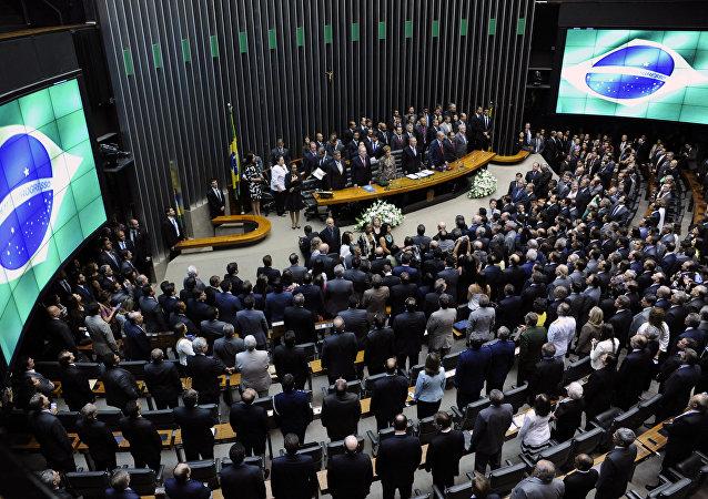 Una sesión del Congreso de Brasil