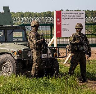 Militares estadounidenses en la base de Redzikowo, Polonia