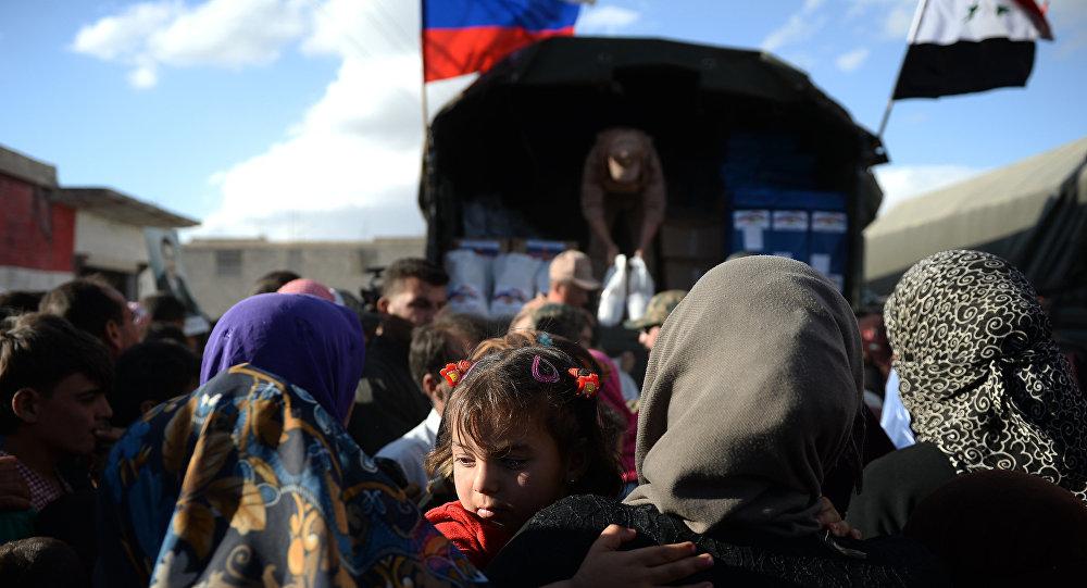 Entrega de la ayuda humanitaria rusa en Siria