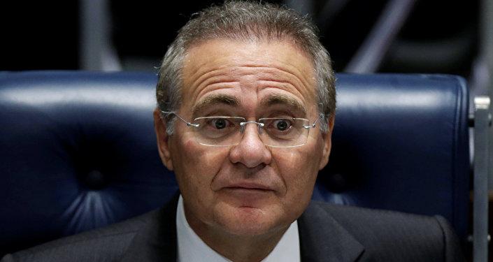 Renan Calheiros, el presidente do Senado de Brasil