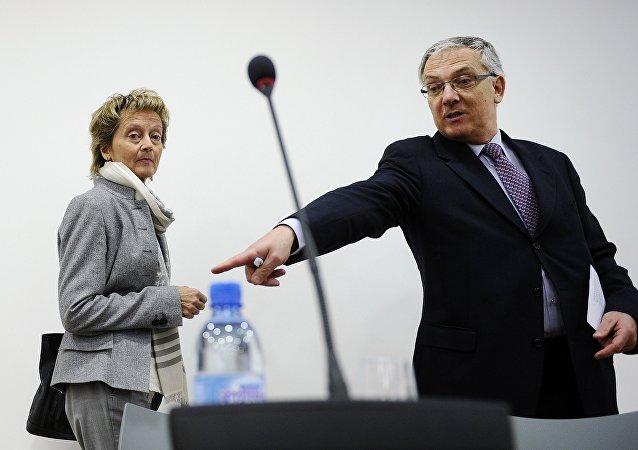 El presidente de la Cámara de Comercio e Industria Suiza-Rusia-CEI, Guy Mettan,