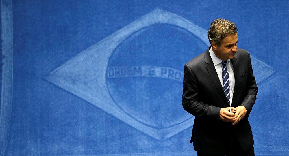 Aécio Neves, senador del Partido de la Social Democracia de Brasil
