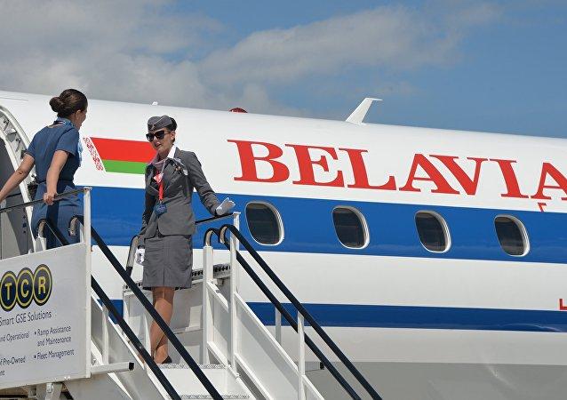 Avión de la aerolínea bielorrusa Belavia