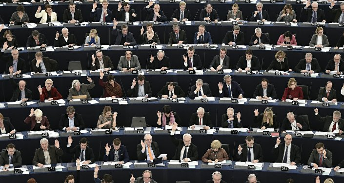 Votación en el Parlamento Europeo (archivo)