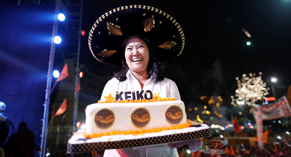Keiko Fujimori, candidata presidencial peruana del partido Fuerza Popular (derecha)