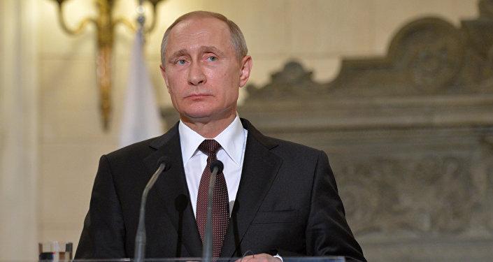 El presidente ruso, Vladímir Putin, durante su visita en Grecia