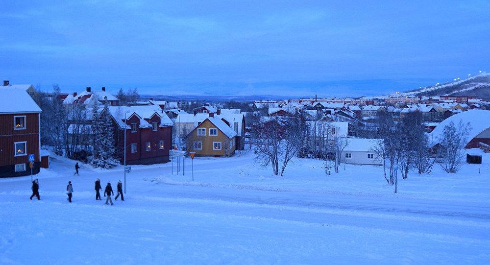 La ciudad de Kiruna, Suecia