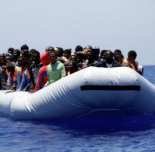 Migrantes en el mar Mediterráneo (archivo)
