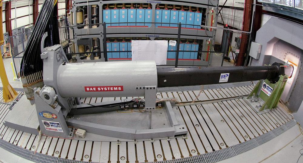 Prototipo del cañón electromagnético estadounidense, destinado para el uso naval (archivo)