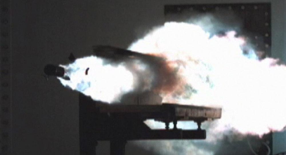 Un cañón de riel estadounidense (archivo)