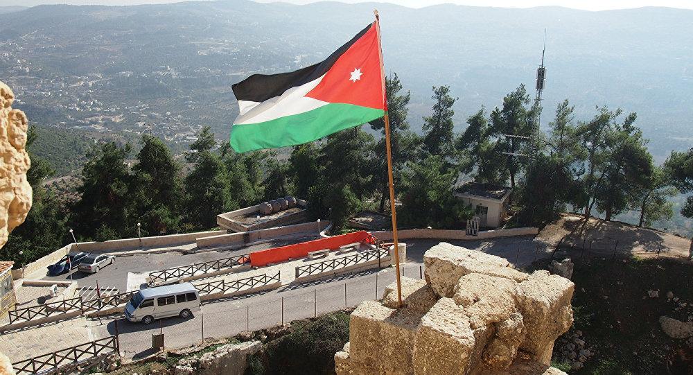 La bandera de Jordania