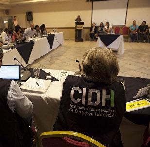 Los representantes de la CIDH en Honduras