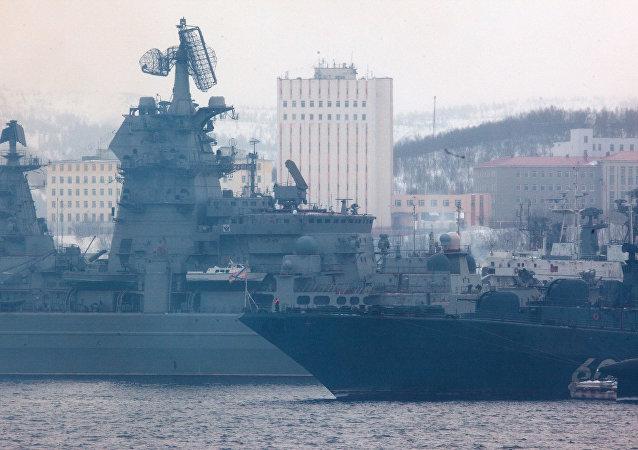 Las maniobras de la Flota del Norte de Rusia
