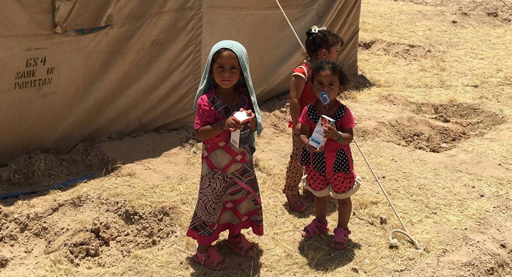 Los niños de Faluya iraquí, ocupada por Daesh