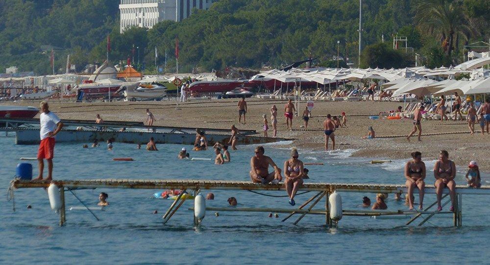 Turistas rusos en Turquía