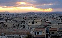 Edificios destruidos en Daraya, Siria