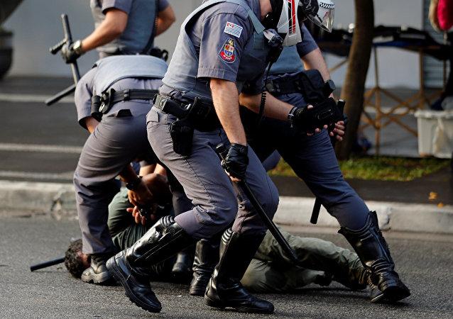 Al menos seis detenidos en las protestas del MTST en Sao Paulo