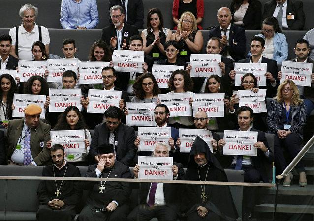 Los miembros de la comunidad armenia en Alemania