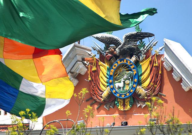 Escudo de Bolivia en el Palacio de Gobierno
