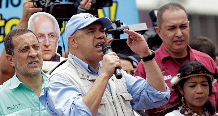 Jesús Torrealba, coordinador de la alianza opositora MUD