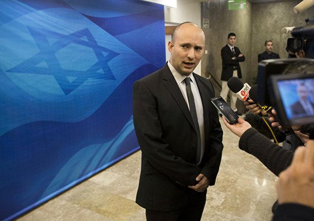 Abir Naftali Bennett, líder del partido 'El Hogar Judío', uno de los principales socios de Gobierno del primer ministro israelí, Benjamín Netanyahu