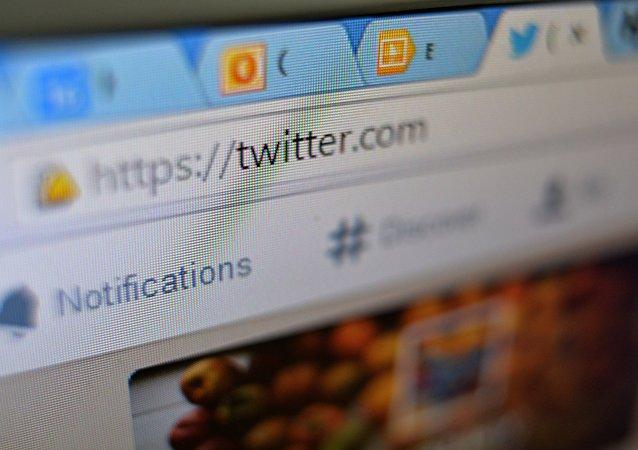 Página del Twitter en una pestaña