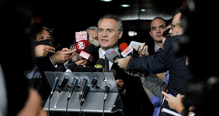 Renan Calheiros, el presidente del Senado brasileño