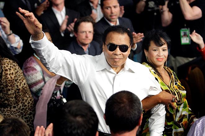Muhammad Ali y su esposa, Yolanda. Las Vegas, Nevada, 1 de mayo de 2010.