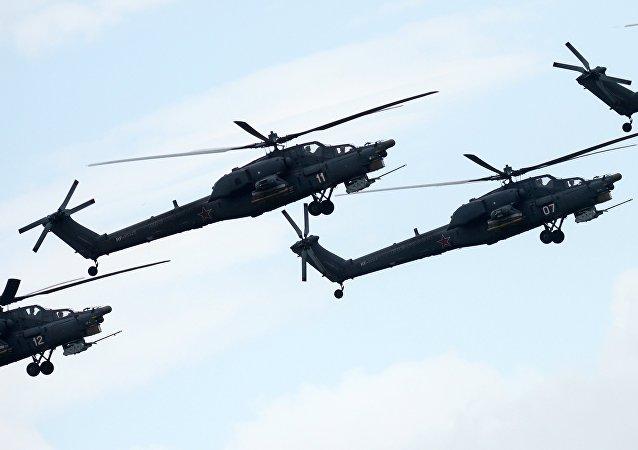 Los helicópteros Mi-28NE (archivo)