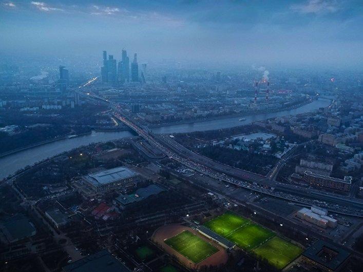 Moscú a la vista del pajaro