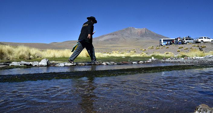 Aguas del Silala en Bolivia, cerca de la frontera con Chile (archivo)