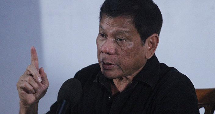 Rodrigo Duterte, el presidente de Filipinas,durante la rueda de prensa en Davao (archivo)