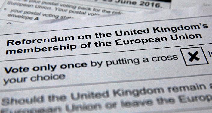 Papeletas de votación para el referéndum sobre el Brexit