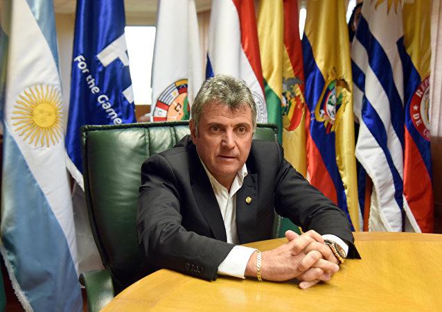 Wilmar Valdez, presidente de la Asociación Uruguaya de Fútbol (AUF)