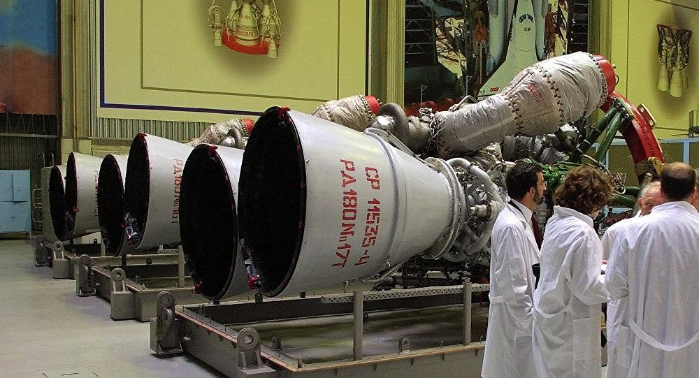 Propulsores espaciales rusos RD-180 (archivo)