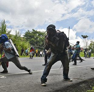 Protesta de campesinos e indígenas en Colombia (archivo)