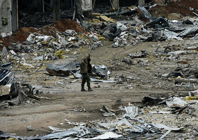 El aeropuerto de Donetsk