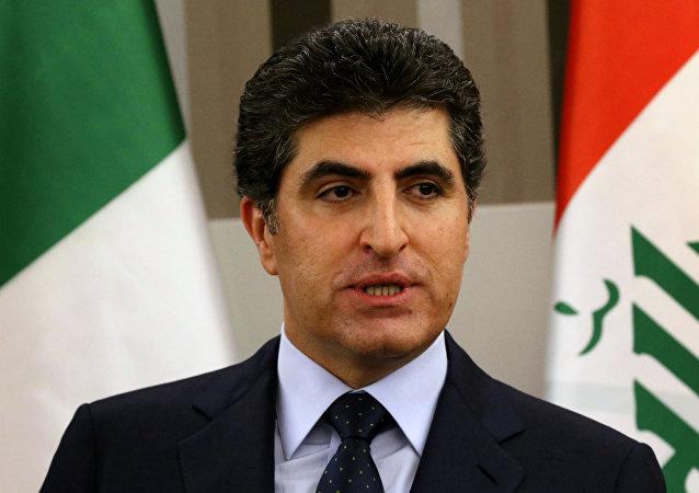 Nechirvan Barzani, el primer ministro del Kurdistán iraquí