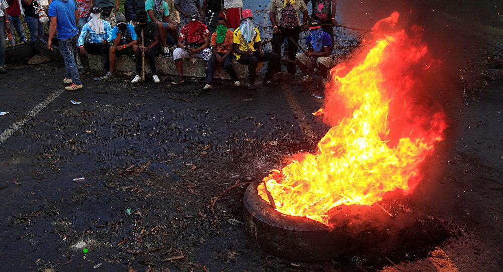 Protesta de indígenas en Colombia