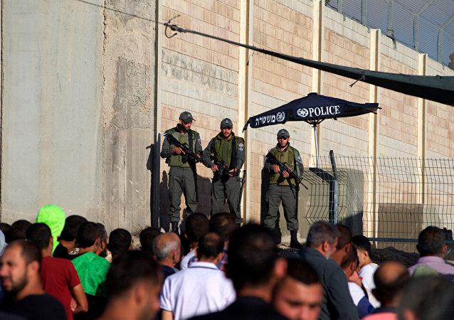 Policías en Jerusalén, Israel