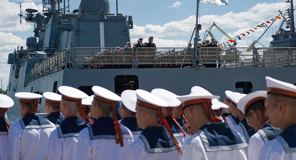 El buque Almirante Grigórovich en Sebastópol, Rusia